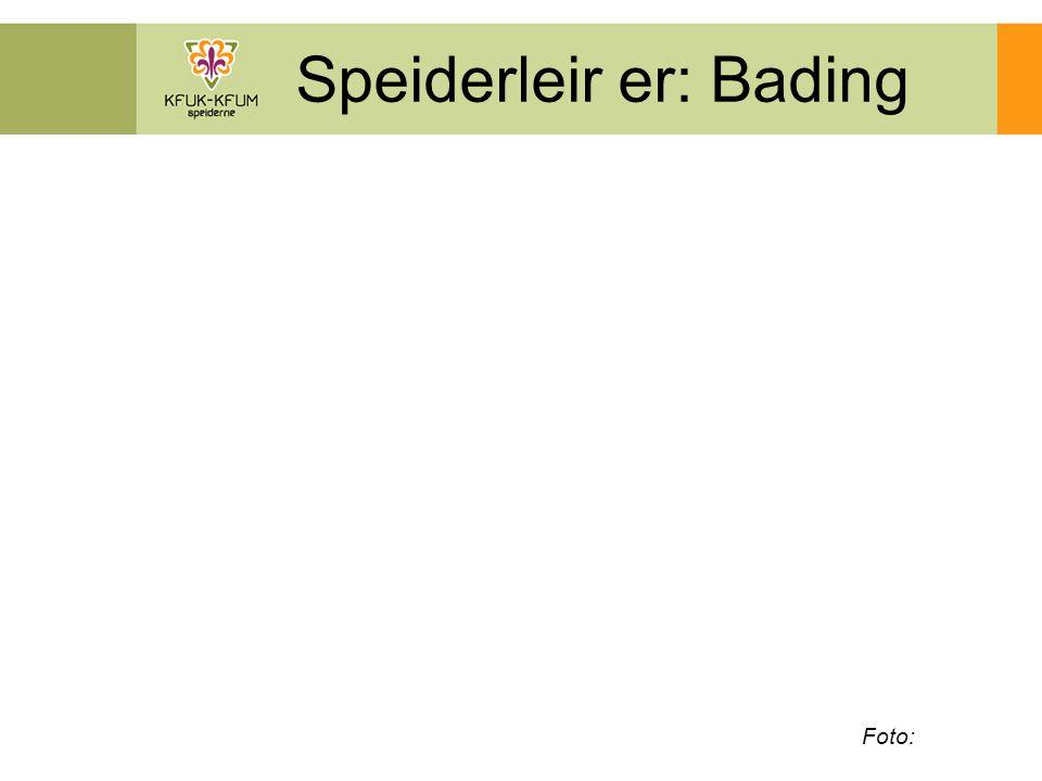 Speiderleir er: Bading Foto: