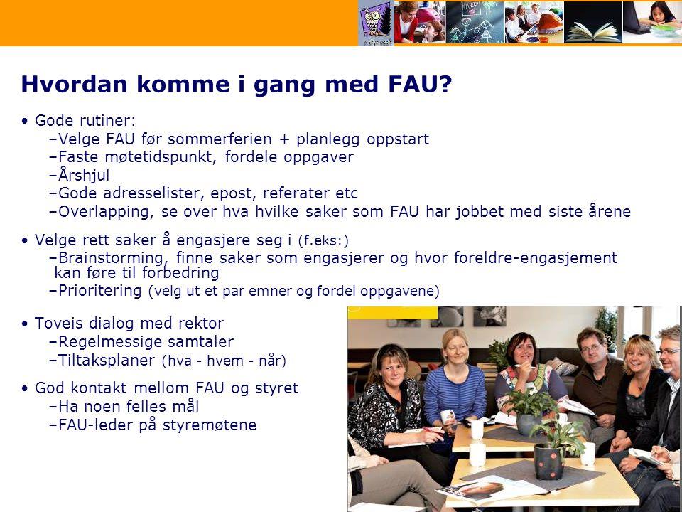 6 Hvordan komme i gang med FAU.
