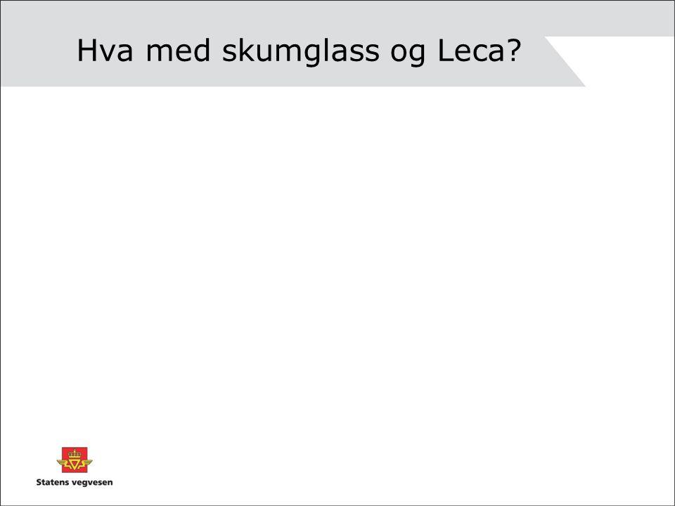 Hva med skumglass og Leca?