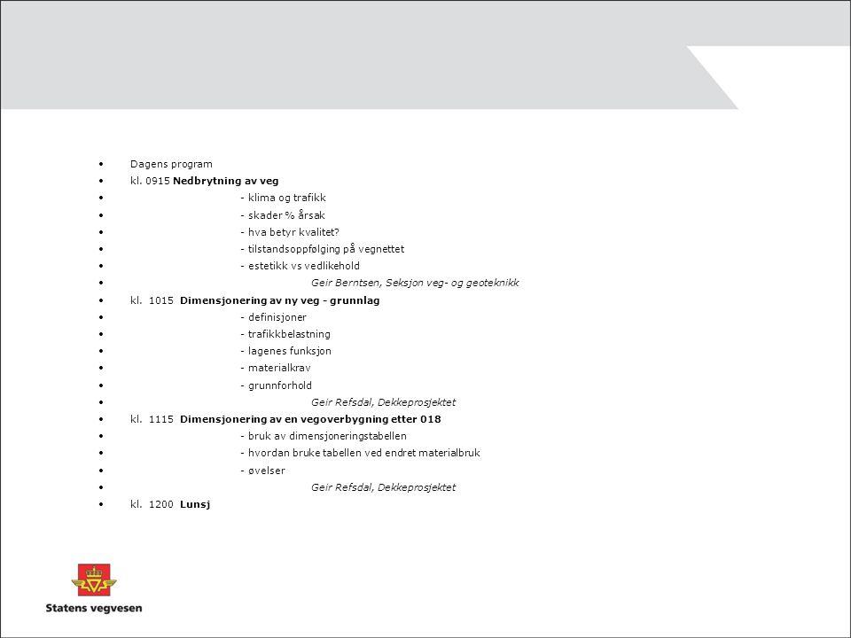kl.1245 Kontroll av materialkvalitet - materialkrav – kort repetisjon - kontroll – hva er viktig.