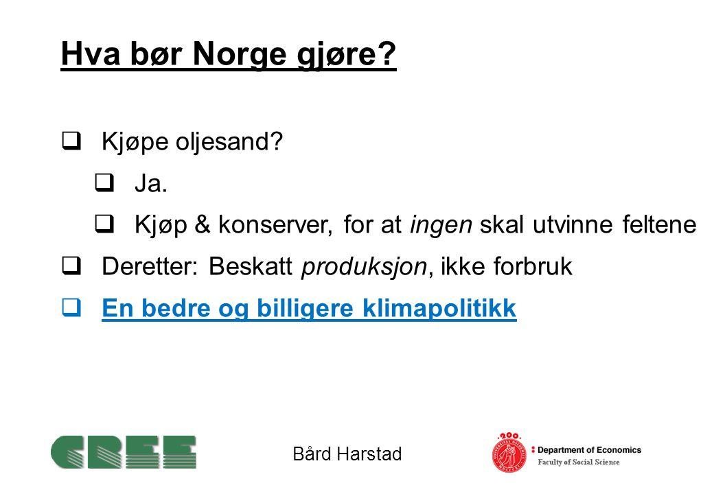 Hva bør Norge gjøre.  Kjøpe oljesand.  Ja.