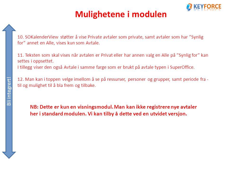 Mulighetene i modulen Bli integrert. 10.