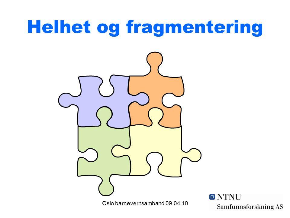 Oslo barnevernsamband 09.04.10 Helhet og fragmentering