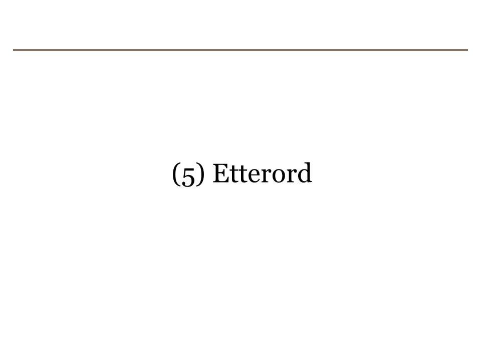 (5) Etterord