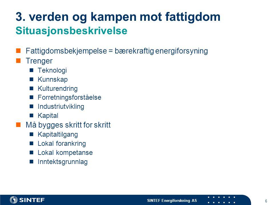 SINTEF Energiforskning AS 6 3.
