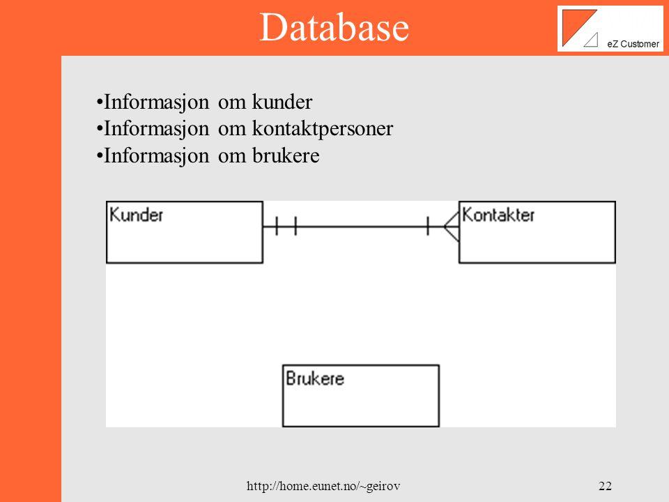 http://home.eunet.no/~geirov21 Testmodellen X 1.1 Opprett bruker Use-case modellTest-case modell Opprett bruker trace Test Nr.KravOpphav/KildePrioritetDato 1.1Administrator skal kunne opprette nye brukere til systemet eZ Systems DV2-2000 A07.02.2000 Forutsetninger : Testbeskrivelse: 1) Logg på systemet som administrator 2) Velg å legge til en bruker 3) Legg inn en bruker Oppfyllt : Dersom ny bruker ble opprettet.