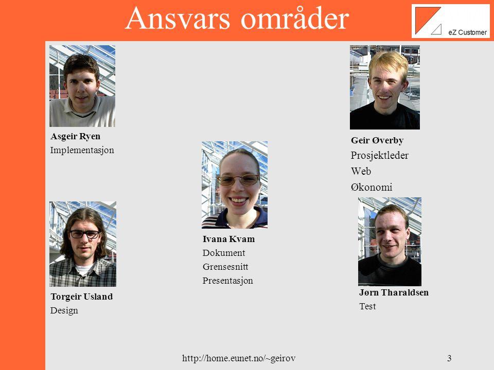 http://home.eunet.no/~geirov2 Hvem er vi.Geir Øverby 27 Er fra Fredrikstad.