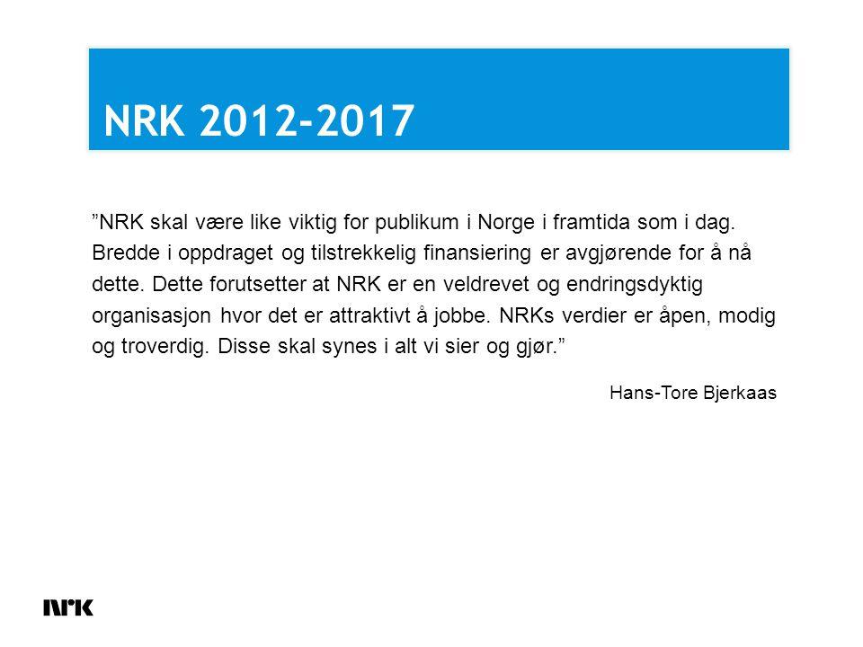 NRK skal være like viktig for publikum i Norge i framtida som i dag.