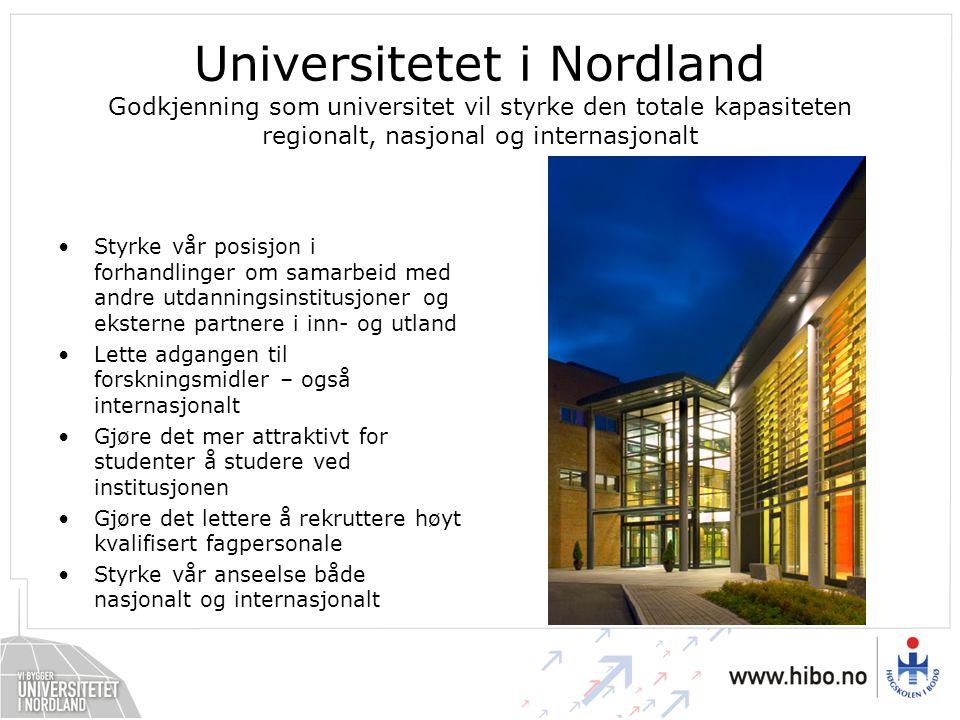 Styrke vår posisjon i forhandlinger om samarbeid med andre utdanningsinstitusjoner og eksterne partnere i inn- og utland Lette adgangen til forsknings