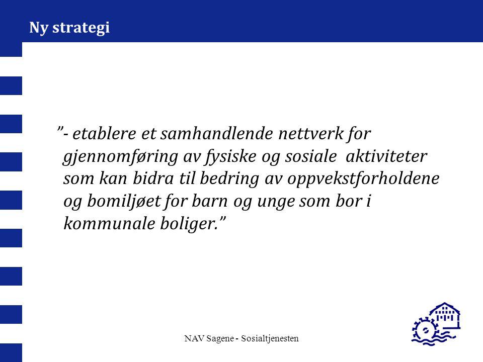 """NAV Sagene - Sosialtjenesten Ny strategi """"- etablere et samhandlende nettverk for gjennomføring av fysiske og sosiale aktiviteter som kan bidra til be"""