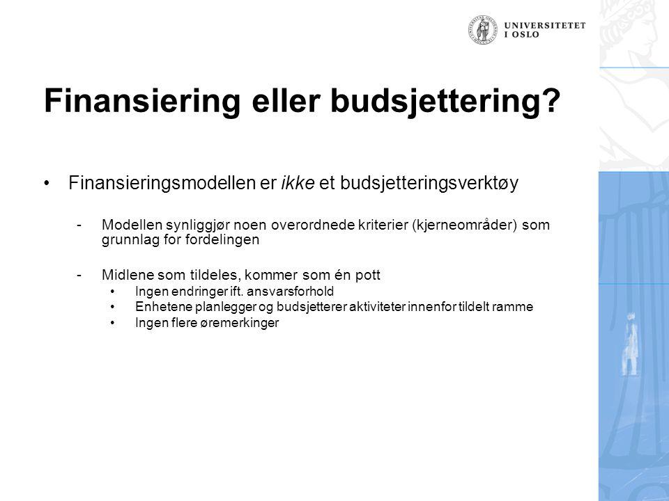 Finansiering eller budsjettering.
