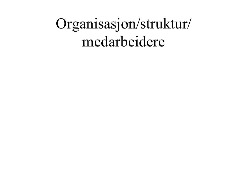 Organisasjon/struktur/ medarbeidere