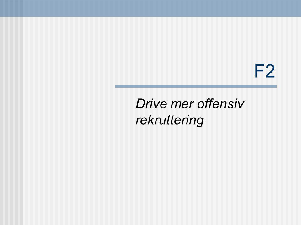 F2 Drive mer offensiv rekruttering