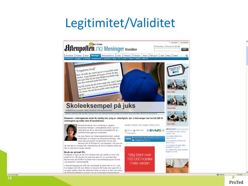 18 Legitimitet/Validitet