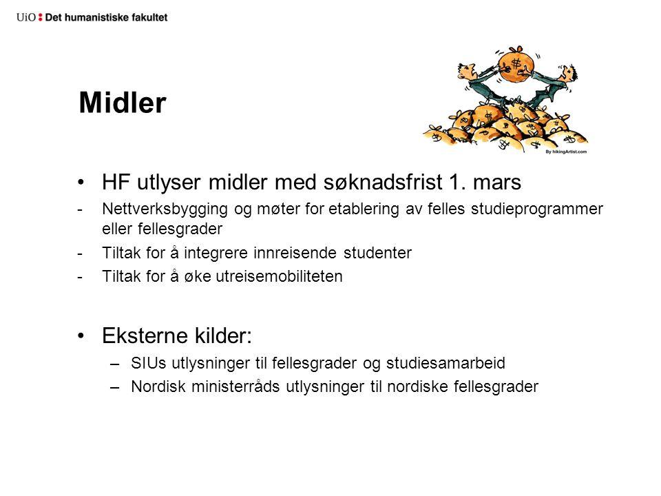 Midler HF utlyser midler med søknadsfrist 1.