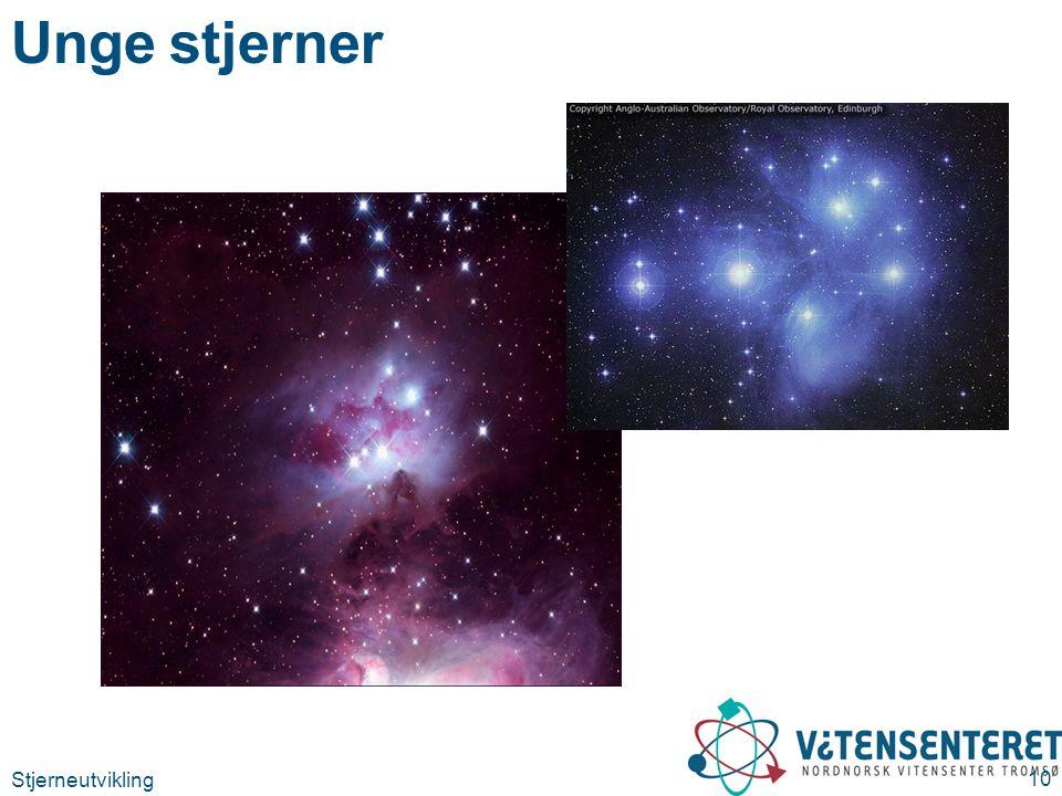 Stjerneutvikling 10 Unge stjerner