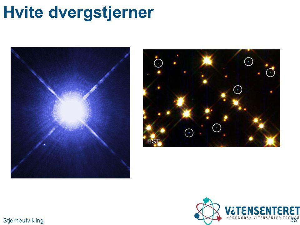 Stjerneutvikling 33 Hvite dvergstjerner