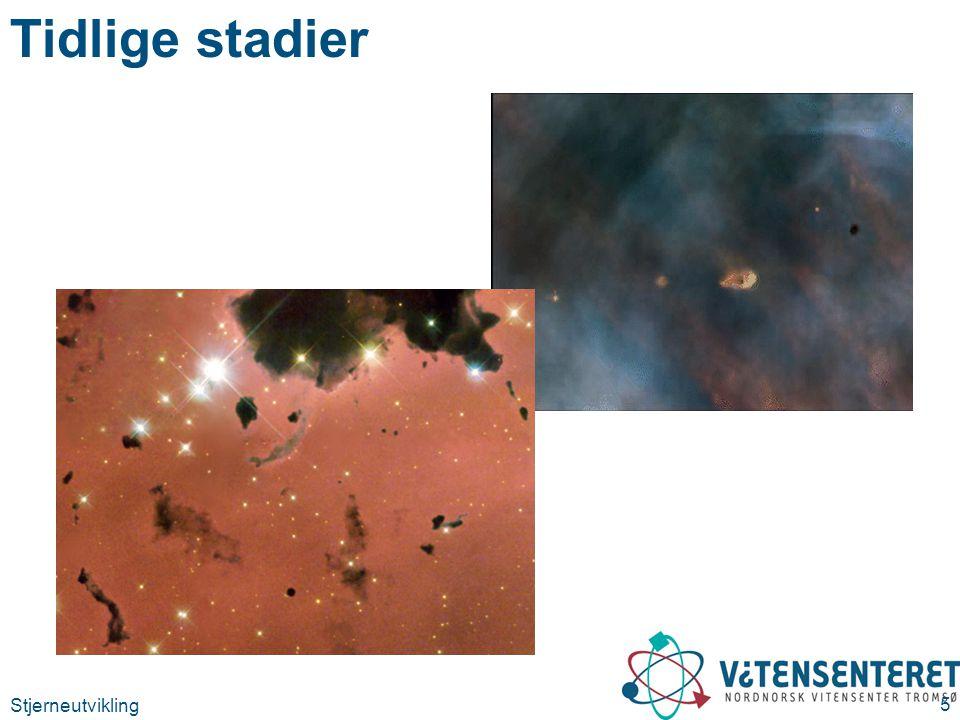 Stjerneutvikling 16 Energiproduksjonen i hovedseriestjerner CNO-prosessen (massive stjerner)