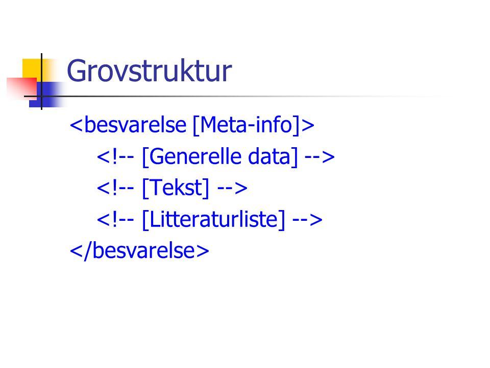 Litteraturliste: Bok, artikkel Id-attributtene brukes i referanser ellers i teksten.