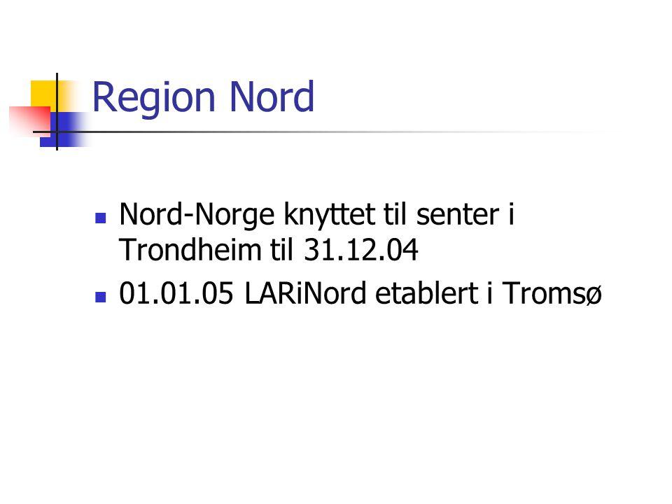 LARiNORDs geografi Senterfunksjonene i lokaler ved UNN- Breivika LARiNord, Bodø, Storgt.