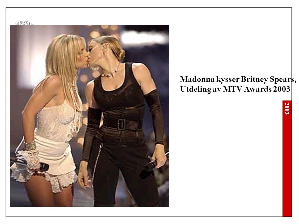 2003 Madonna kysser Britney Spears, Utdeling av MTV Awards 2003