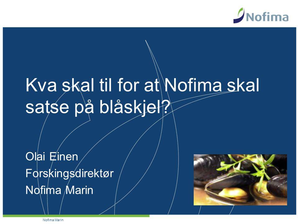 Nofima Marin Kva skal til for at Nofima skal satse på blåskjel.