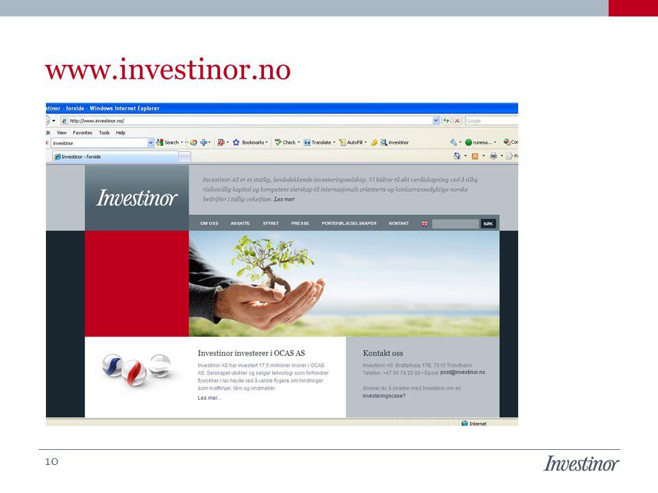 www.investinor.no 10