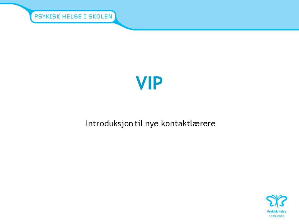VIP Introduksjon til nye kontaktlærere