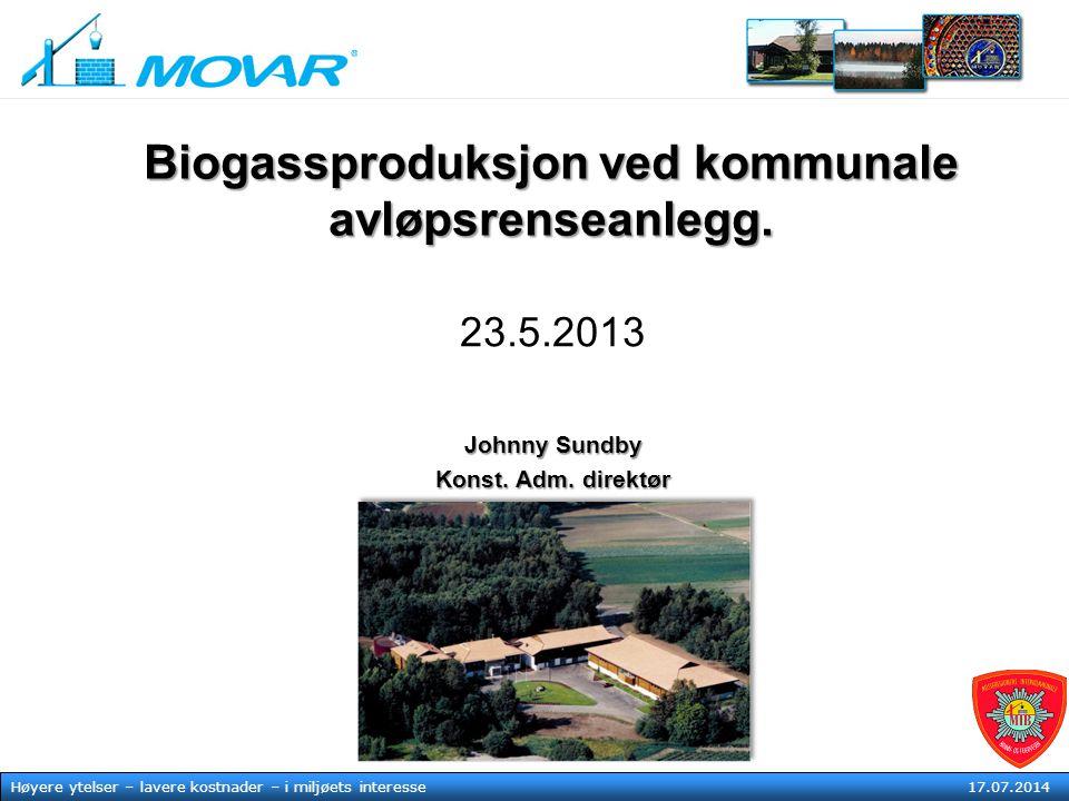 MOVAR IKS Høyere ytelser – lavere kostnader – i mljøets tjeneste17. juli 2014 Høyere ytelser – lavere kostnader – i miljøets interesse 17.07.2014 Biog