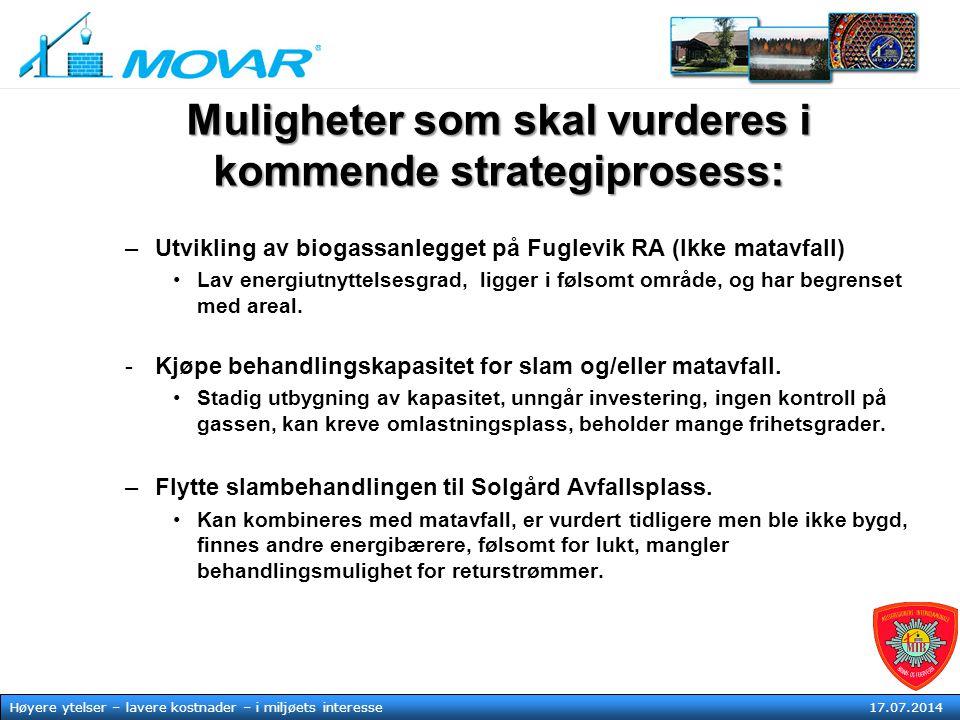 MOVAR IKS Høyere ytelser – lavere kostnader – i mljøets tjeneste17. juli 2014 Høyere ytelser – lavere kostnader – i miljøets interesse 17.07.2014 Muli