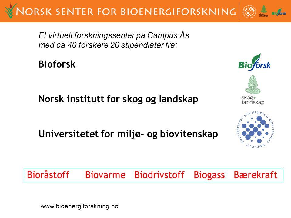 Også status som et nasjonalt senter gjennom: FME CenBio (Bioenergy Innovation Centre)