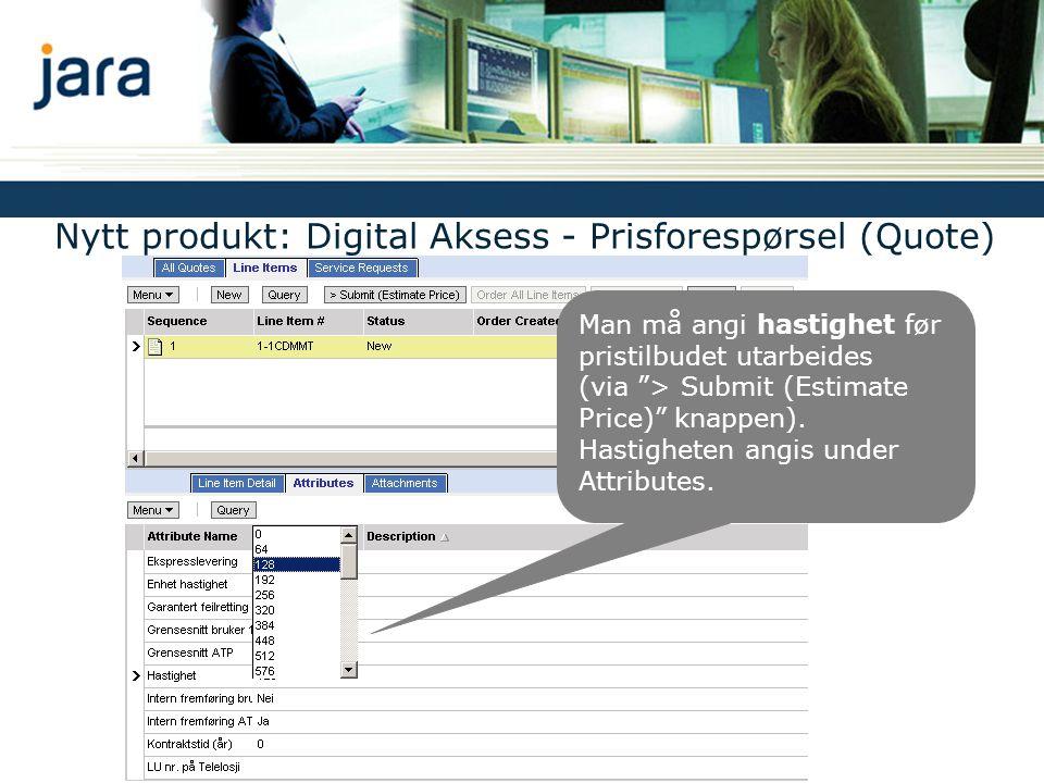 Nytt felt Address ATP A : ATP* som benyttes for oppgitt sluttbrukeradresse.