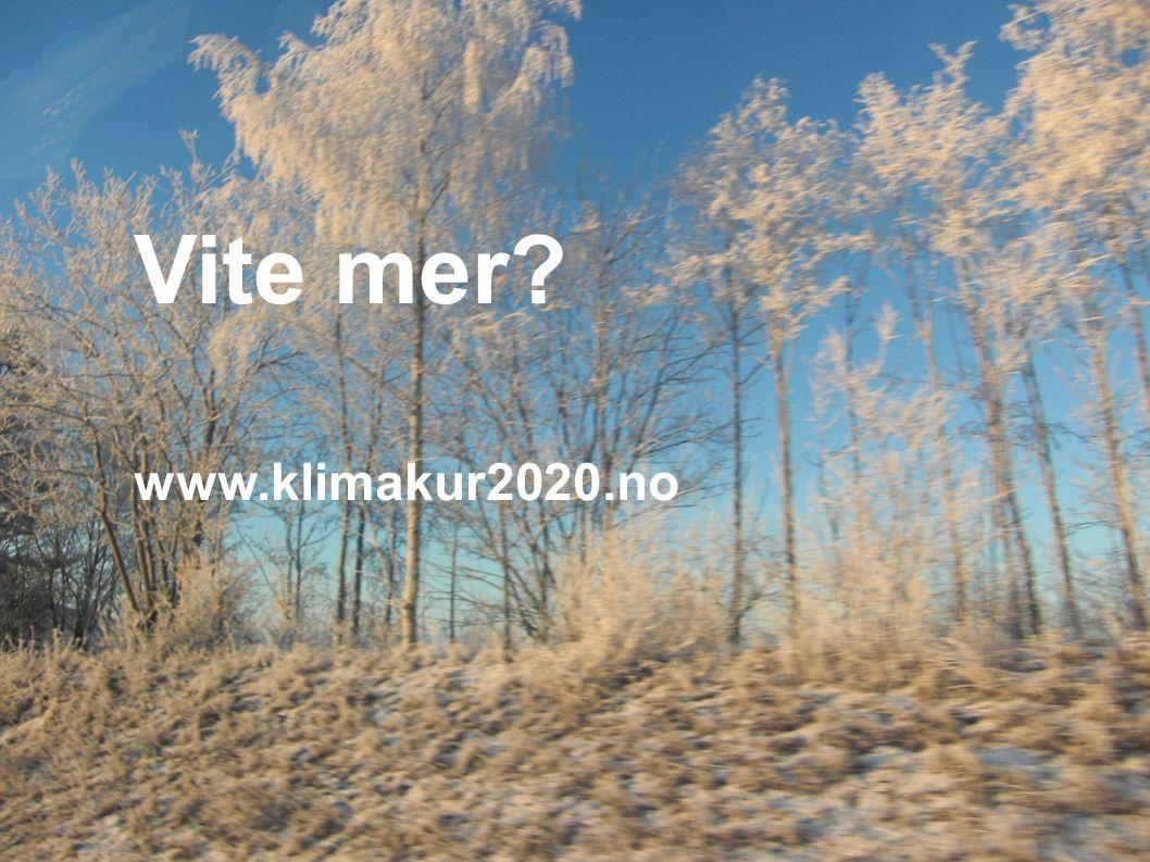 Vite mer? www.klimakur2020.no