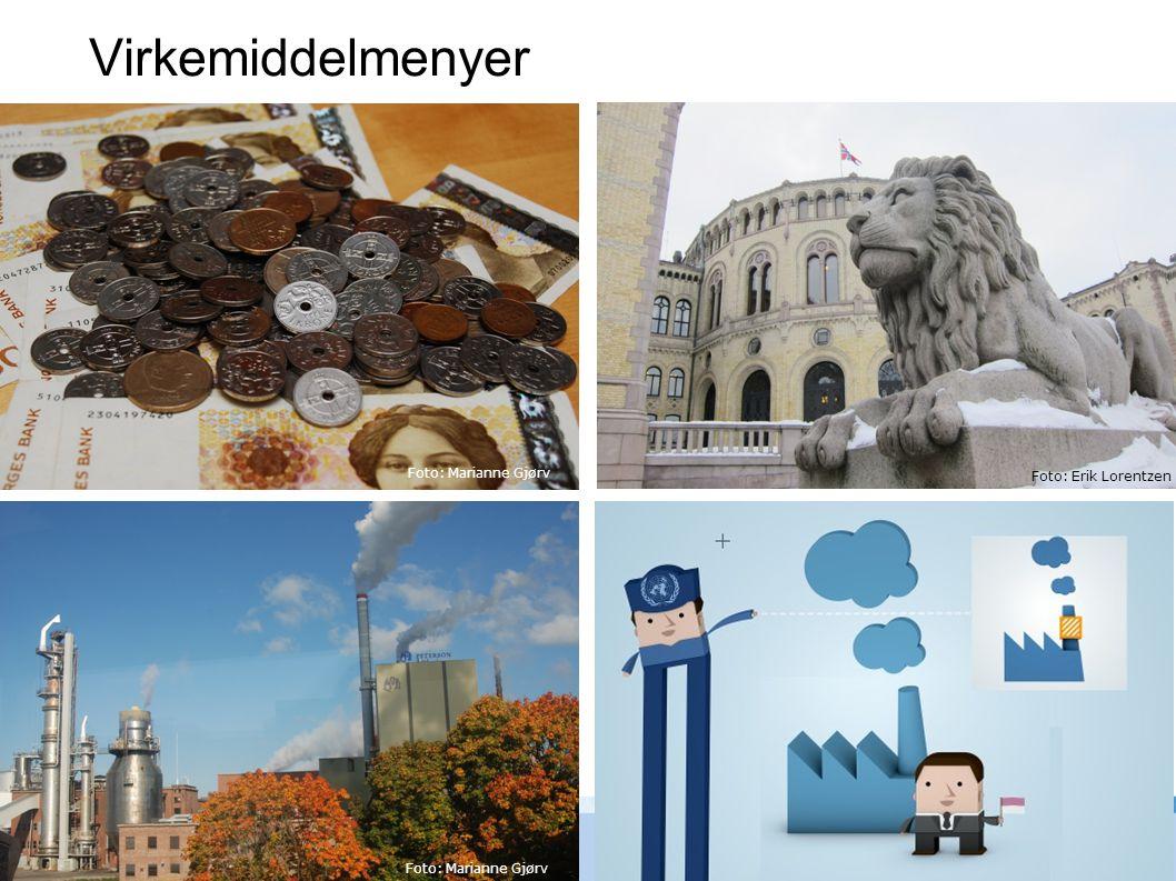 Virkemiddelmenyer Foto: Erik Lorentzen Foto: Marianne Gjørv Foto: Erik Lorentzen