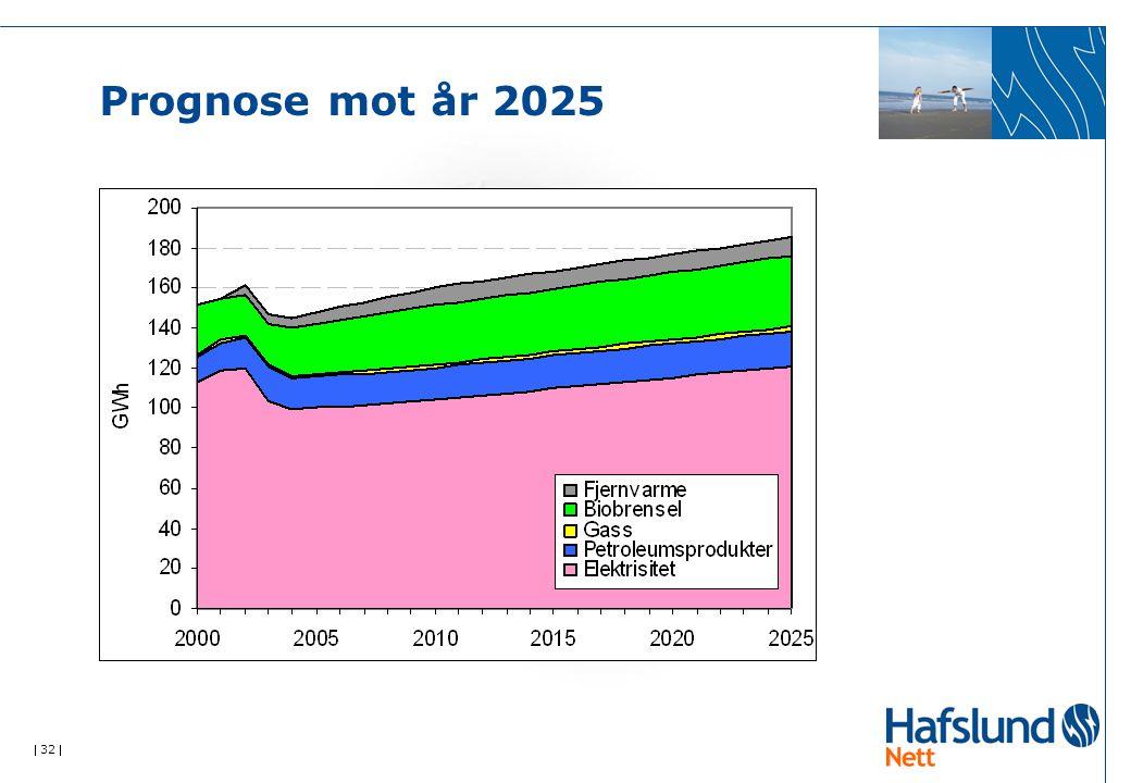  32  Prognose mot år 2025