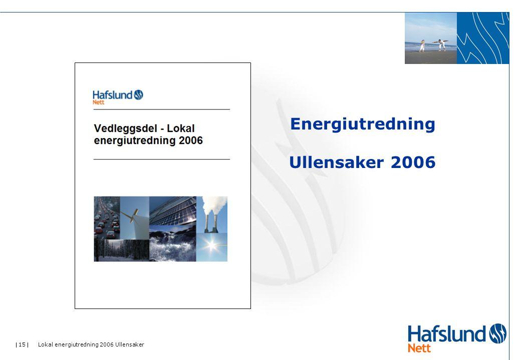  15  Lokal energiutredning 2006 Ullensaker Energiutredning Ullensaker 2006
