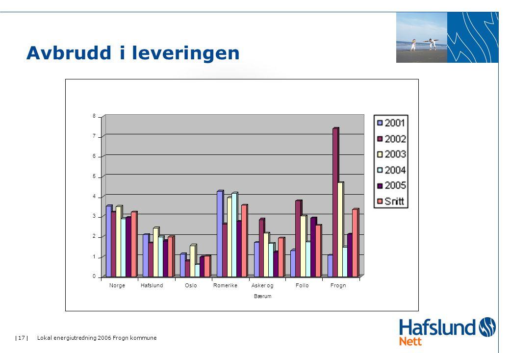  17  Lokal energiutredning 2006 Frogn kommune Avbrudd i leveringen