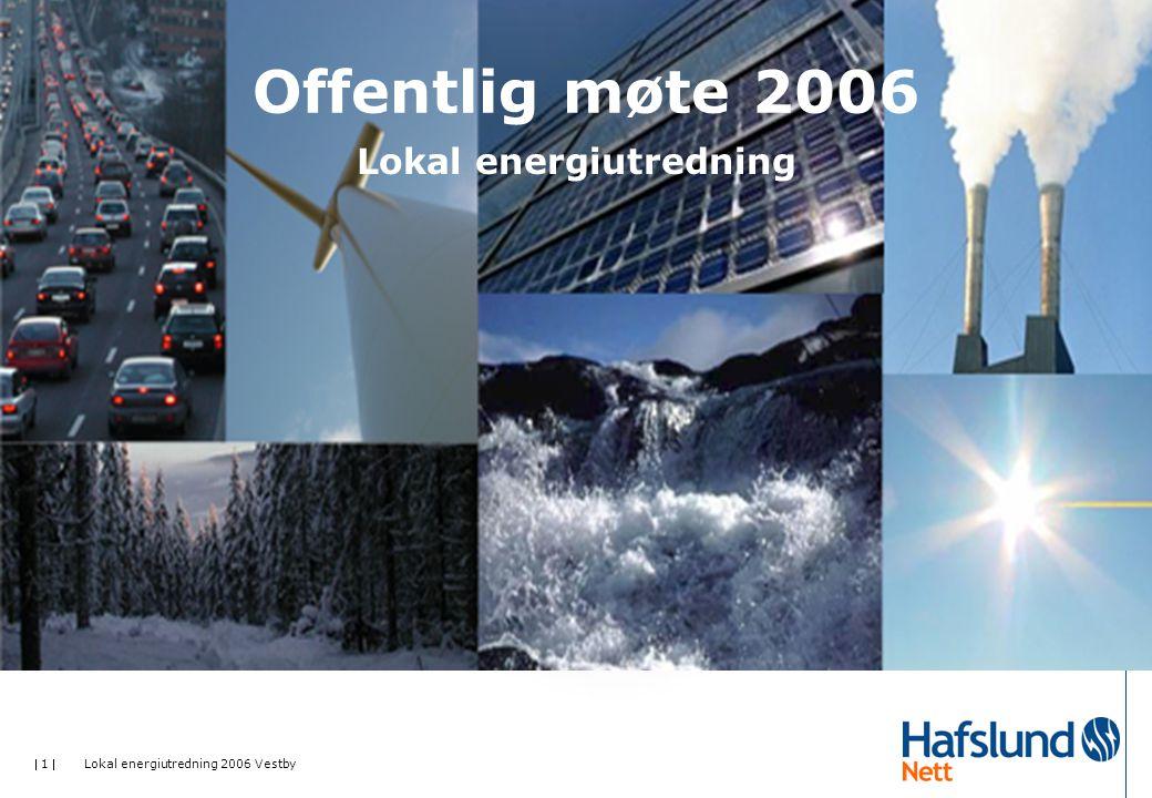  1  Lokal energiutredning 2006 Vestby Offentlig møte 2006 Lokal energiutredning
