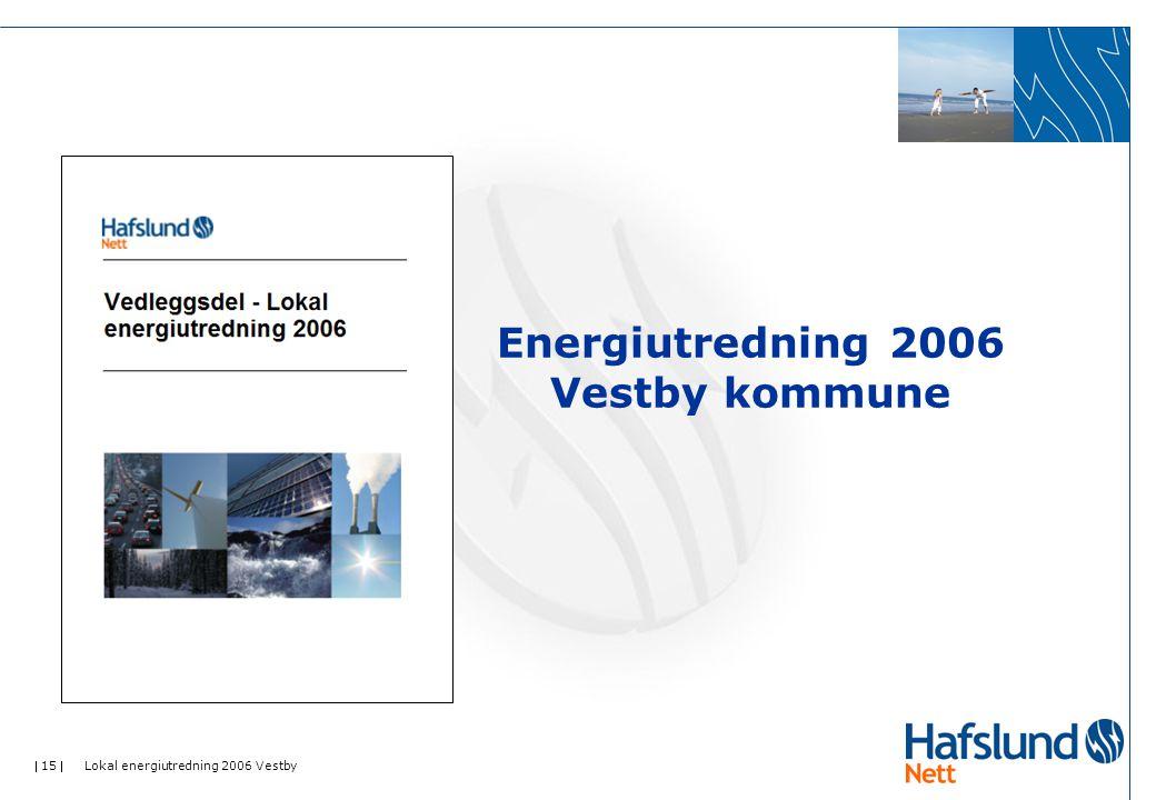  15  Lokal energiutredning 2006 Vestby Energiutredning 2006 Vestby kommune