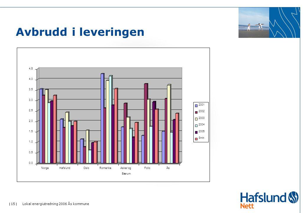  15  Lokal energiutredning 2006 Ås kommune Avbrudd i leveringen