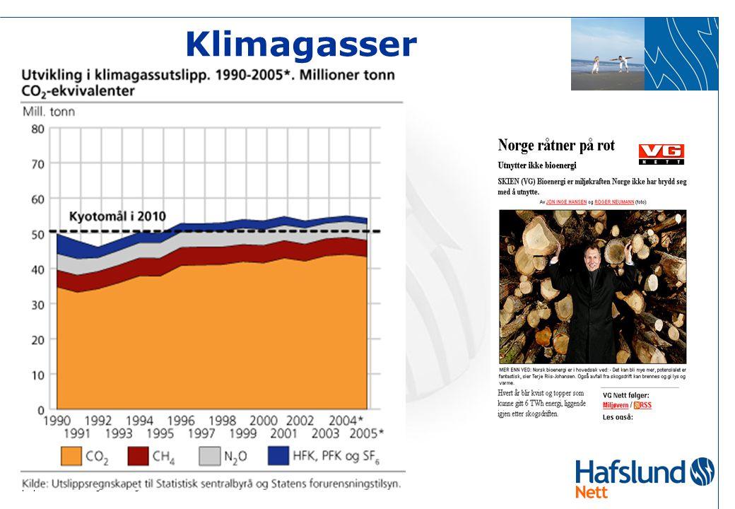  3  Lokal energiutredning 2006 Ås kommune Klimagasser