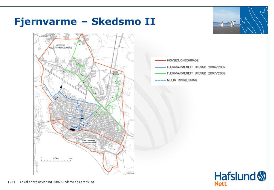  23  Lokal energiutredning 2006 Skedsmo og Lørenskog Fjernvarme – Skedsmo II