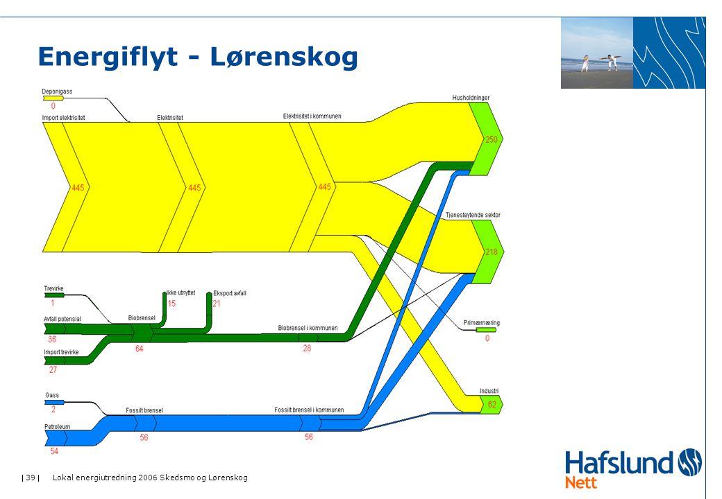  39  Lokal energiutredning 2006 Skedsmo og Lørenskog Energiflyt - Lørenskog