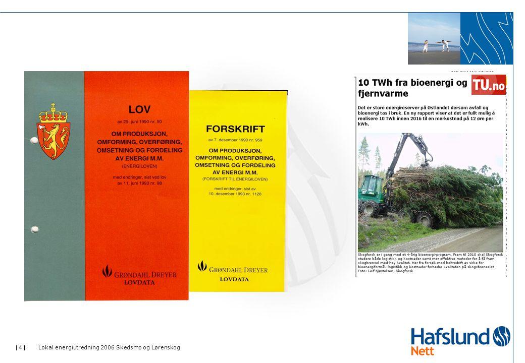  35  Lokal energiutredning 2006 Skedsmo og Lørenskog Energiressurser – Skedsmo (forts.) Avfall 60 % av husholdningsavfallet i Skedsmo kommune ble energigjenvunnet i forbrenningsanlegg i 2005, dette utgjør 29,8 GWh.