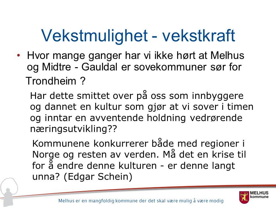 Melhus er en mangfoldig kommune der det skal være mulig å være modig Gauldalen i aksene Orkdal - Stjørda l Trondheim og sørover Trondheim – Orkdal Trondheim – Stjørdal Trondheim sørover….