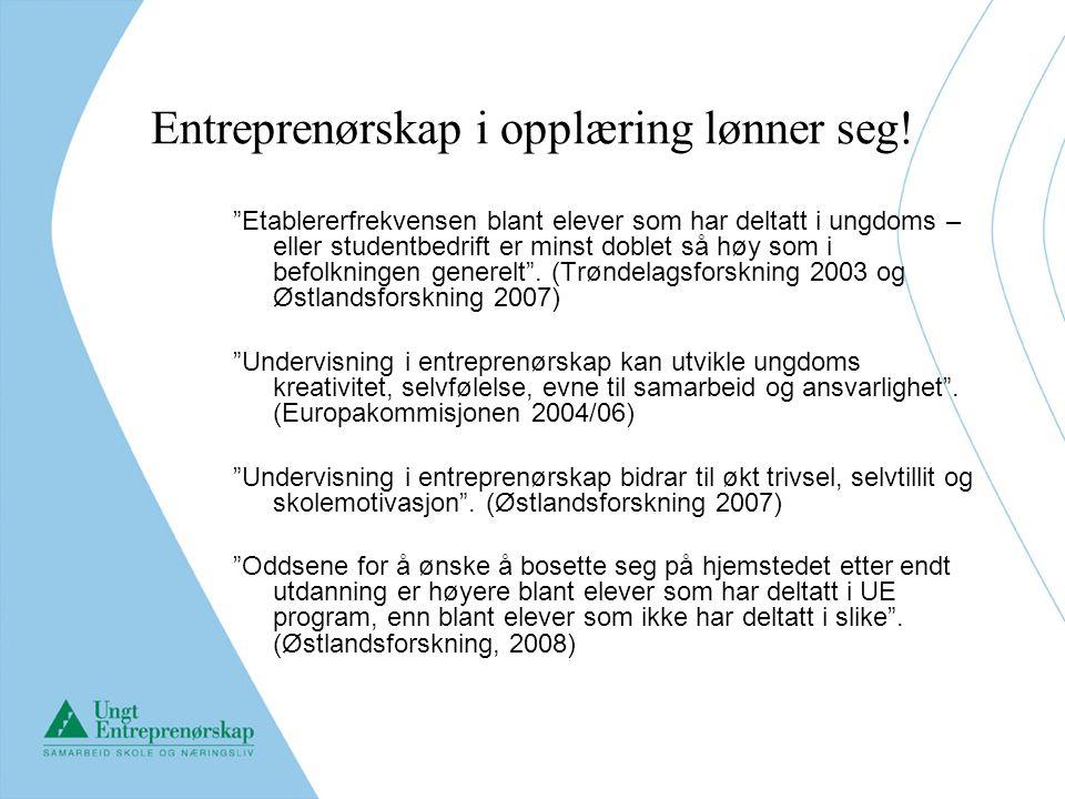 Entreprenørskap i opplæring lønner seg.