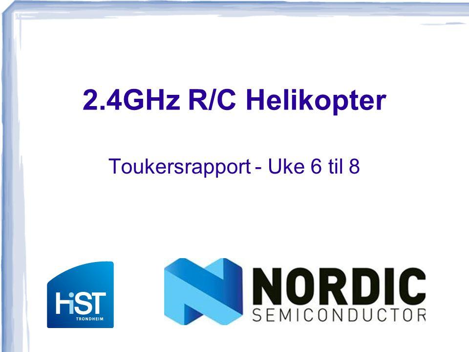Oppnådde mål Trådløskommunikasjon  Ingen dynamisk pairing ESC og motorkontroll Akselerometer Helikopteret flyr.