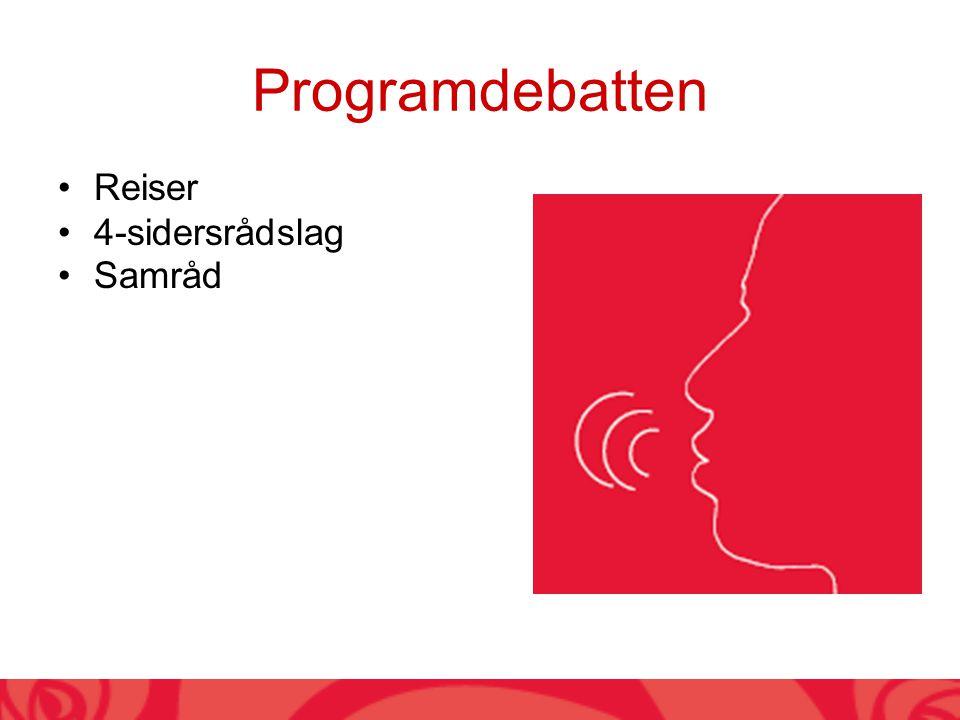 Programdebatten Reiser 4-sidersrådslag Samråd