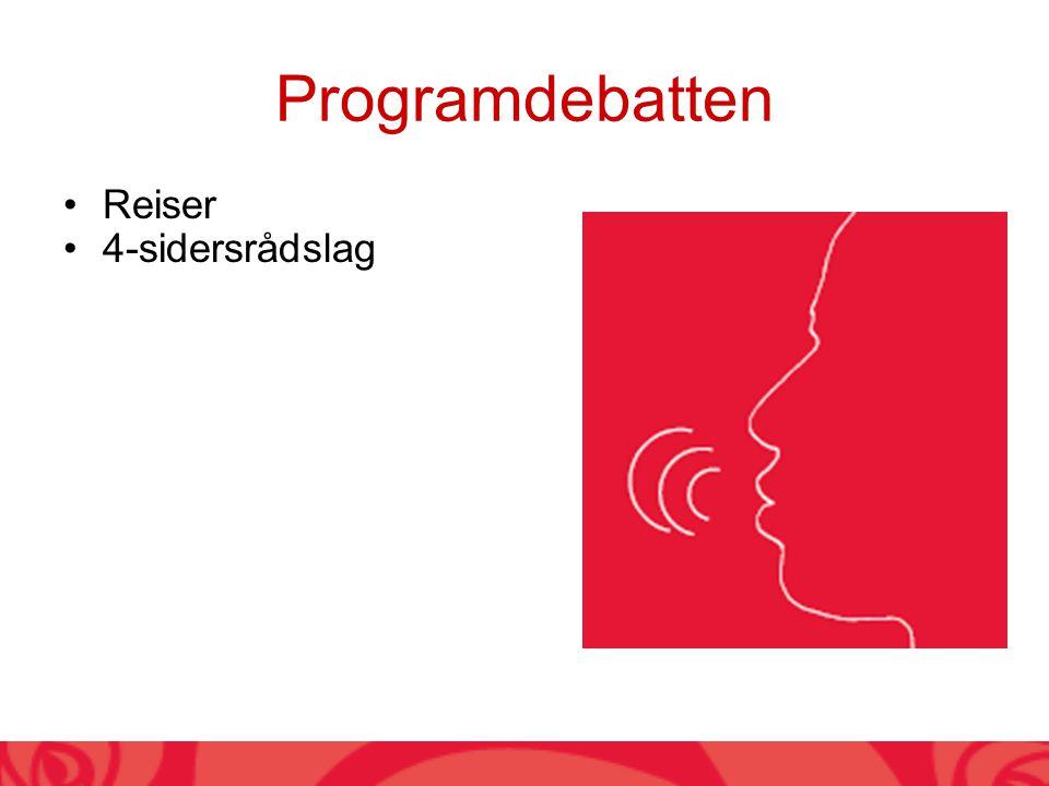 Programdebatten Reiser 4-sidersrådslag