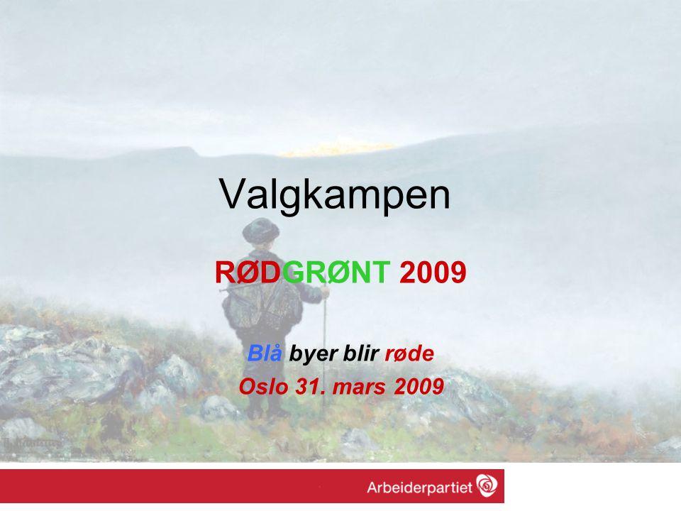 Valgkampen RØDGRØNT 2009 Blå byer blir røde Oslo 31. mars 2009